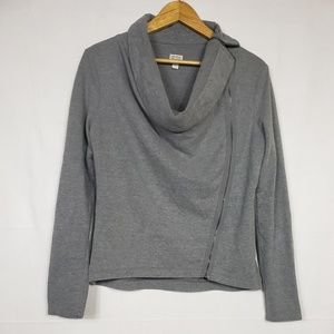 Converse Grey Cowl Neck Top Size Large